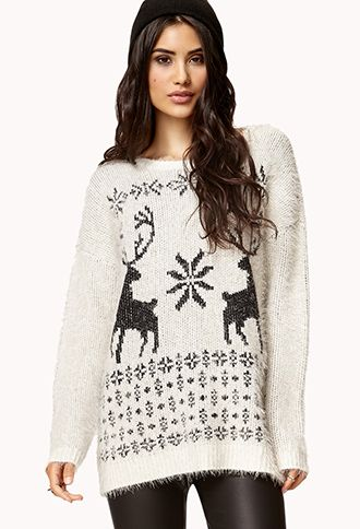 Fuzzy Fair Isle Sweater | FOREVER21 - 2074310598 | Clothes I Like ...