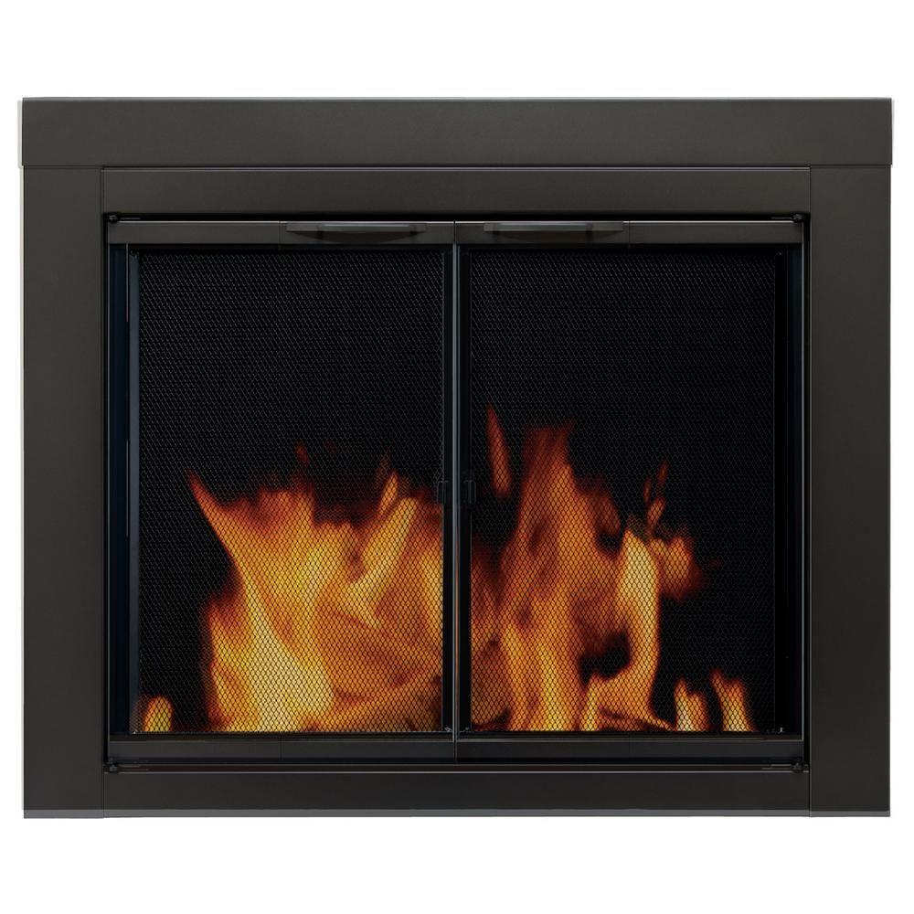 Pleasant Hearth Alpine Medium Glass Fireplace Doors An 1011 Fireplace Doors Fireplace Glass Doors Fireplace Surrounds