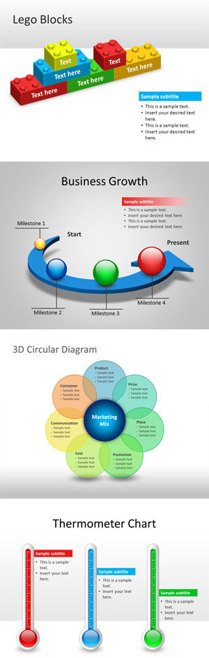 free 3d graphics and powerpoint templates by f business