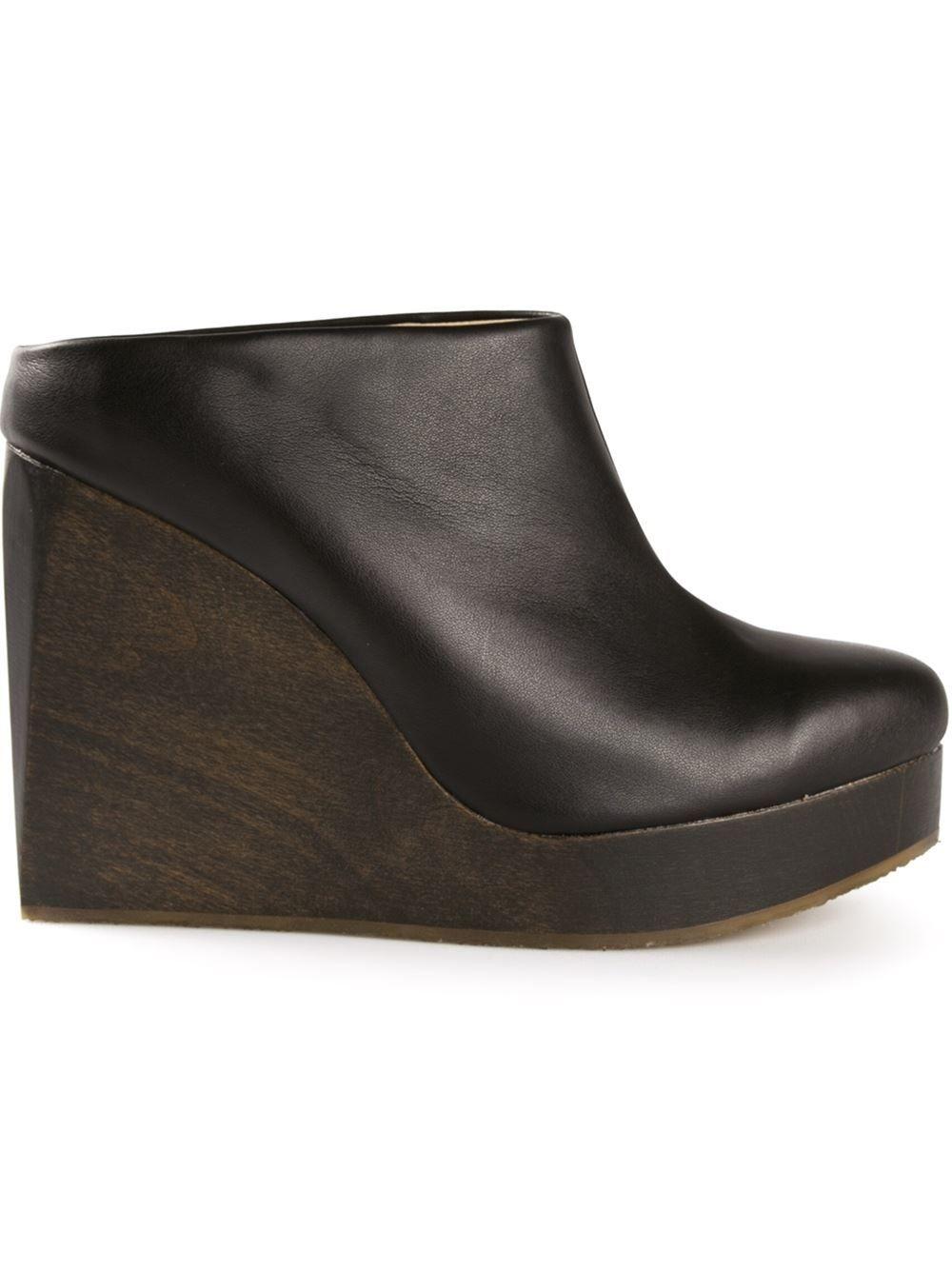 1dbcdcd746b3 Sydney Brown Wedge Clogs in Black