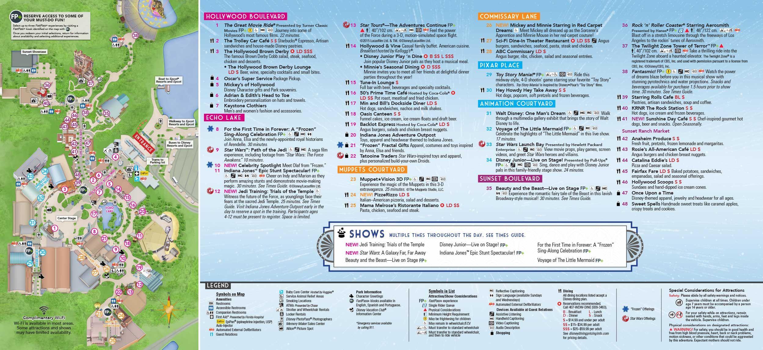 Disneys hollywood studios map at walt disney world disney disney disneys hollywood studios map at walt disney world gumiabroncs Gallery