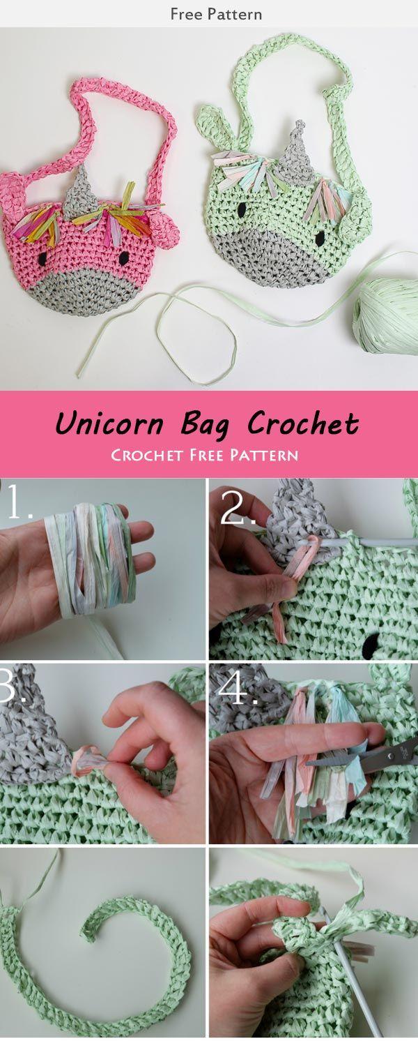 kid\'s Unicorn Bag Crochet Free Pattern | Projects: Sewing, ect ...