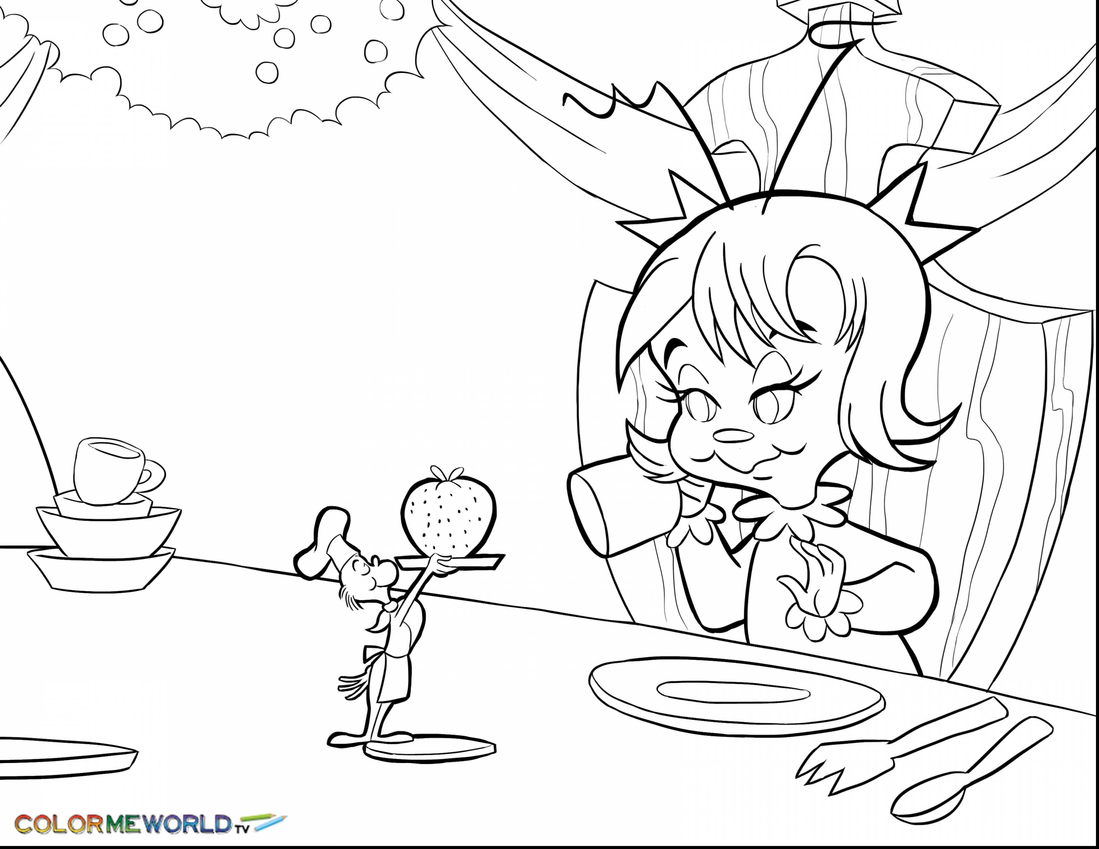 Cindy Lou who Christmas Tree Coloring Pages Free Grinch
