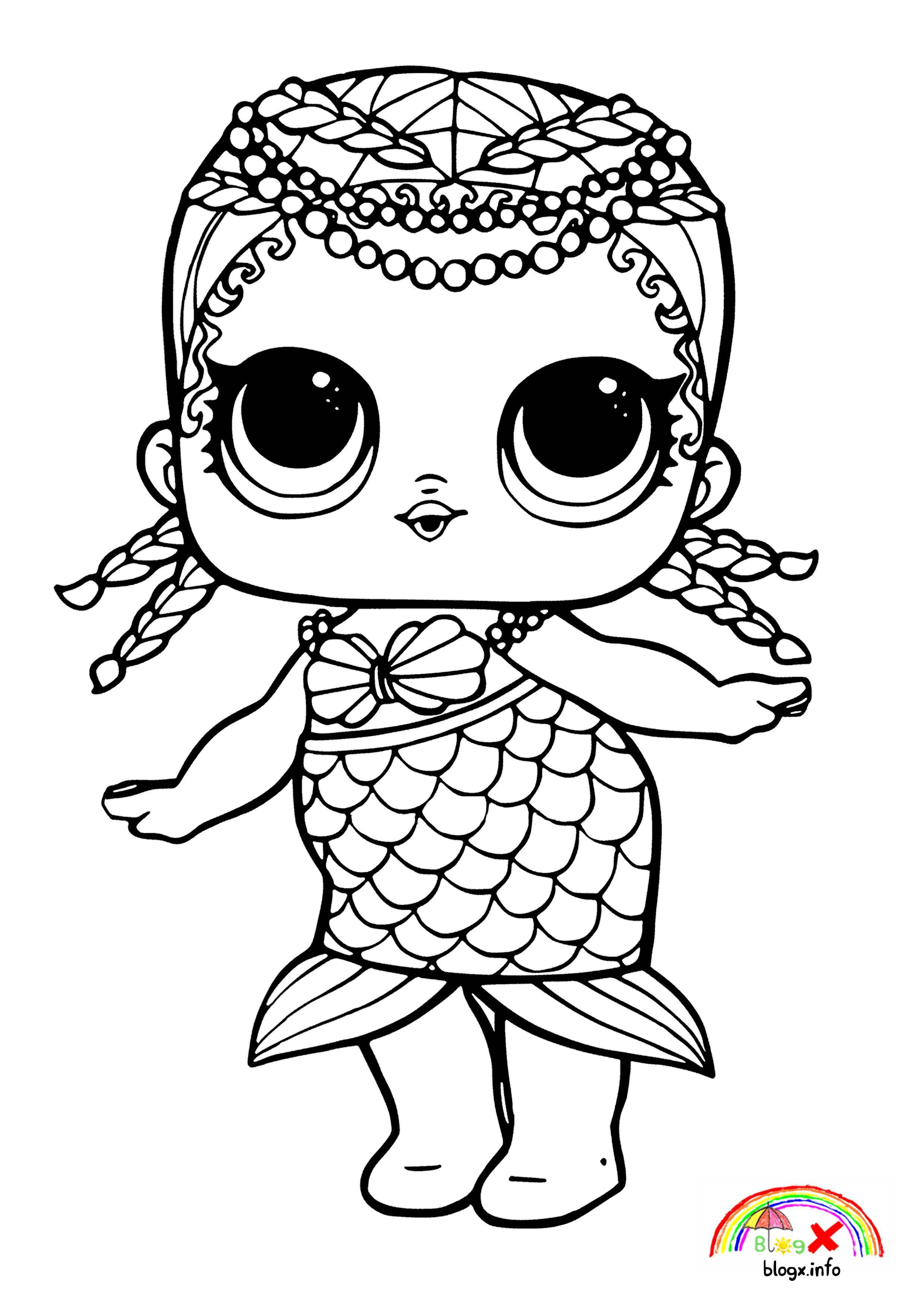Lol Dolls Mermaid Series Coloring Page Mermaid Coloring Pages Unicorn Coloring Pages Cartoon Coloring Pages