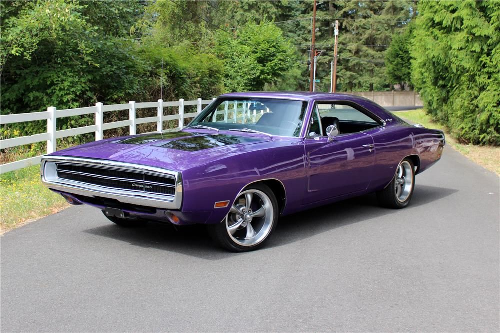 This 1970 Dodge Charger Is Finished In Plum Crazy Purple Over Black