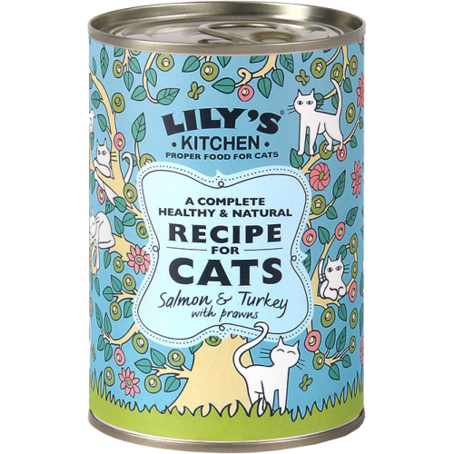 Lily's Kitchen Salmon & Turkey with Prawns for Cats 400g x 6 - Buy now: £14.69