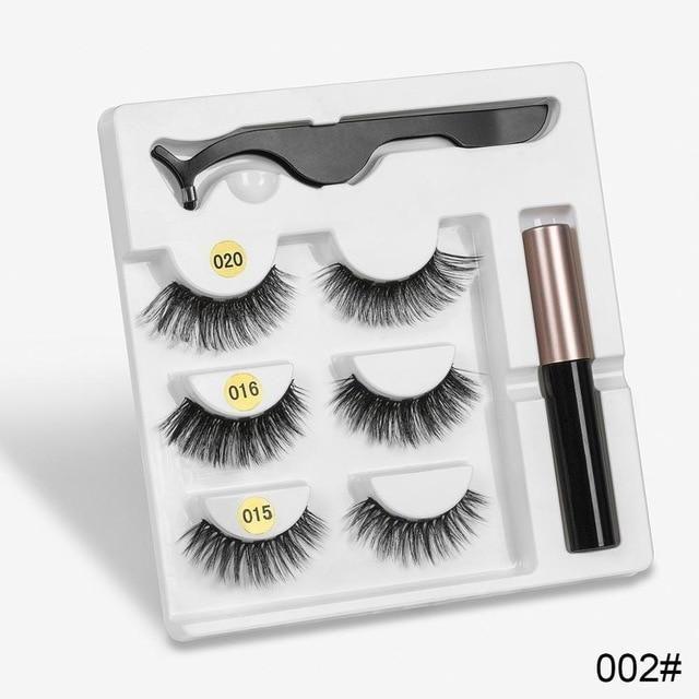Set mit natürlichen Wimpern – mix002 10 Boxen
