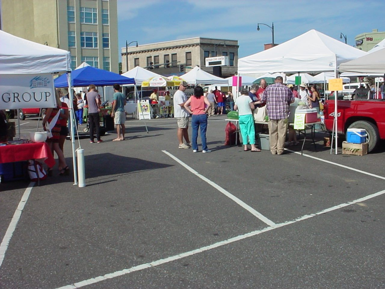 Open every Saturday in June and July from 8 until 12 with local produce and other vendors.