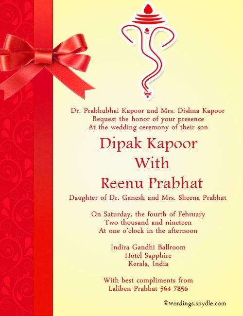 Indian Wedding Invitation Wordings Wedding Invitations Whether