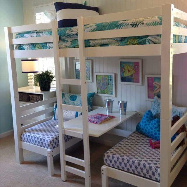 5 Wonderful Ideas Of Triple Bunk Beds For Your Kids Bedroom Interior Design Convertible Loft Bed Cool Beds Bunk Bed Designs