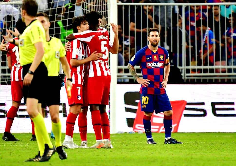 Barcelona Once Again Shocked By Atletico Madrid Atlético Madrid Barcelona Vs Atletico Madrid Messi