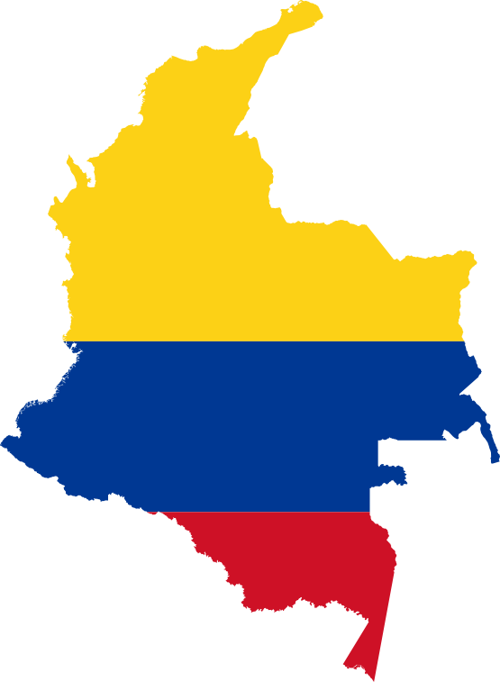 File Flag Map Of Colombia Svg Wikimedia Commons Colombia Map Colombia Flag Flag