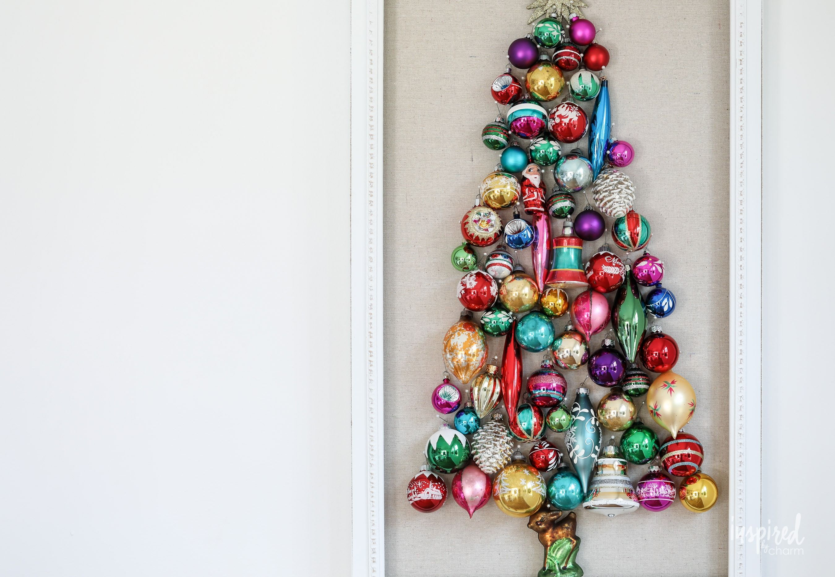 Learn How To Make This Diy Vintage Ornament Wall Decor Tree Christmas Holiday Vintage Ornament Tree Walldec Tree Wall Decor Diy Vintage Vintage Ornaments