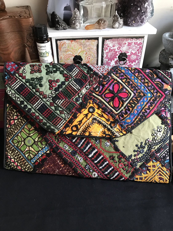 Röötz Indian clutch evening bag, Ladies Purse, Sequin