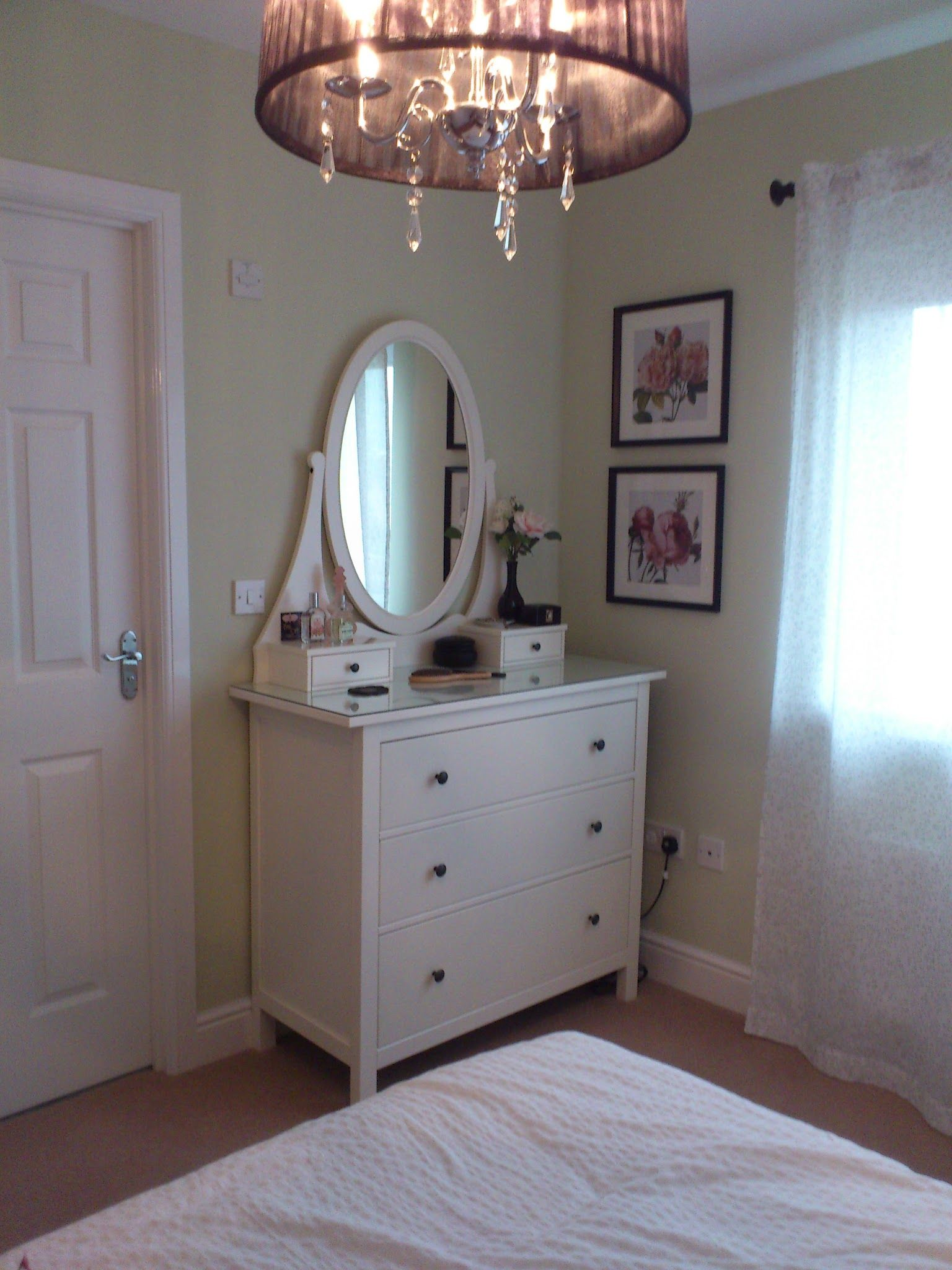 master bedroom redecorated. walls, laura ashley willow paint