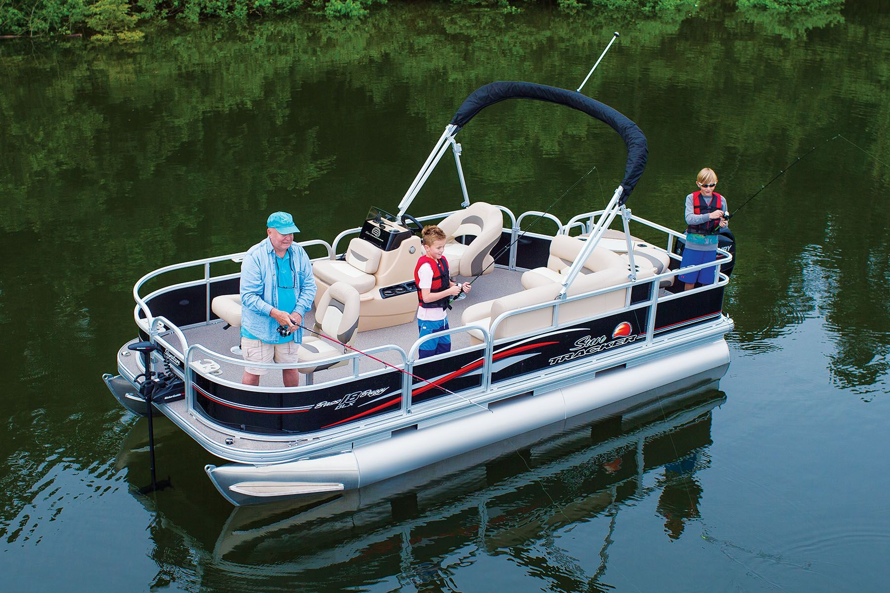 Tracker Pontoon Boats >> Bass Buggy 18 DLX Available through Springfield Tracker Boat Center Contact… (With images ...