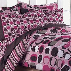 Opus Pink 7 Piece Queen Size Bed In A Bag With Sheet Set