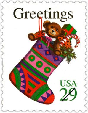 Usps Christmas Stamps.1994 A Year Of Firsts For Usps Christmas Stamps Here For