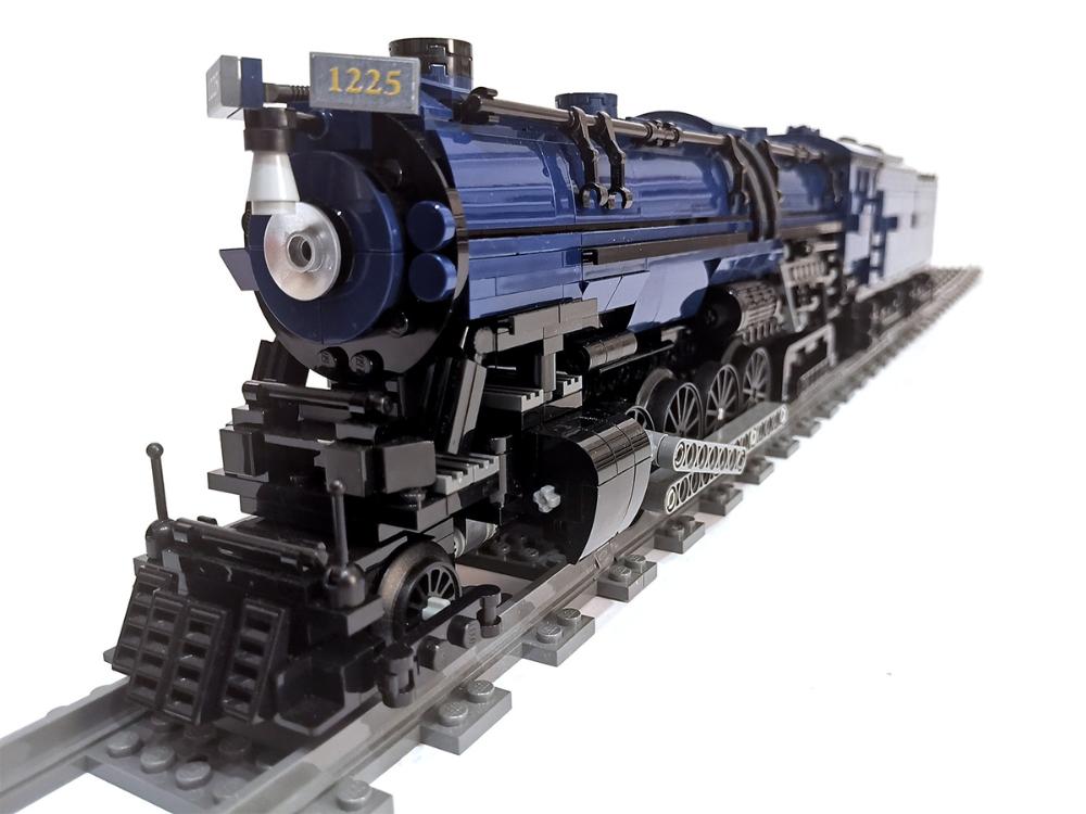 Us Steam Locomotive Polar Express Pere Marquette 1225 Own Built Model Moc Lego Trains Lego Design Lego Sets