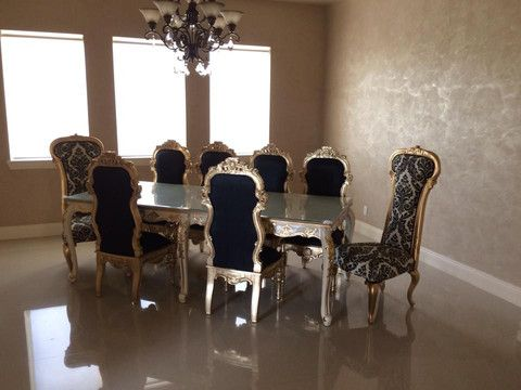 Versailles 8 Ft Dining Table Shown With Noblesse Dauphine