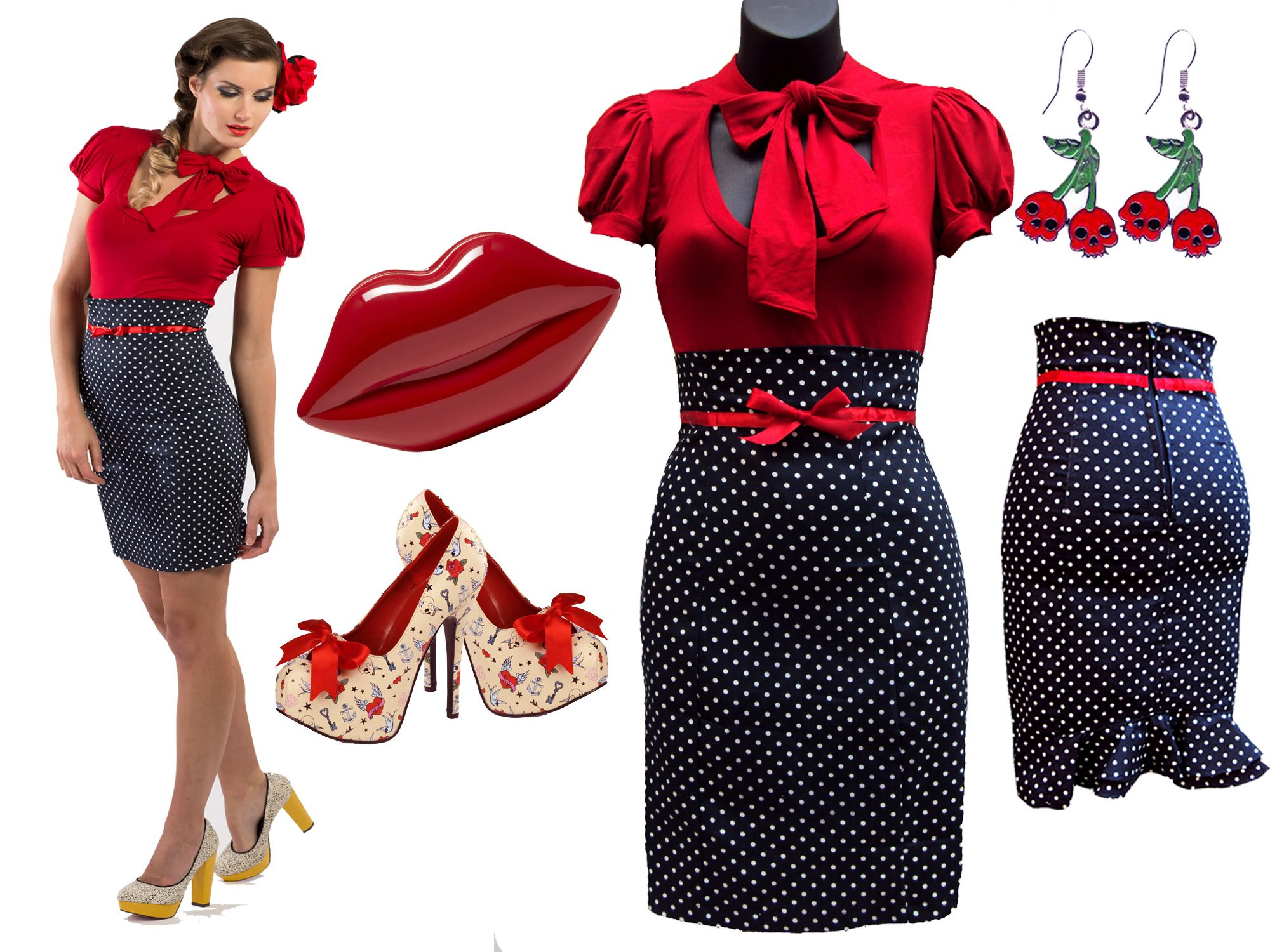 Fabulous and flirty outfit ideas to rock Spring days u003c3  sc 1 st  Pinterest & Fabulous and flirty outfit ideas to rock Spring days u003c3   Rockabilly ...