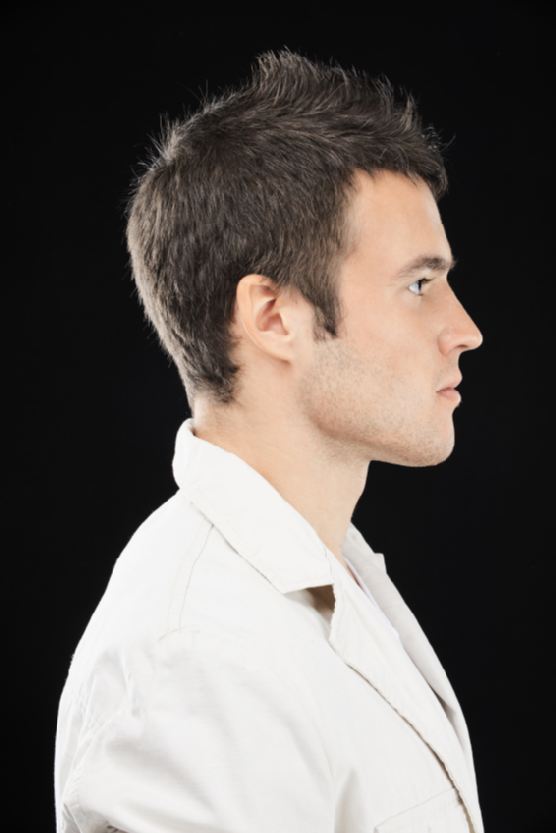 young man in profile | Side view of face, Side portrait ...