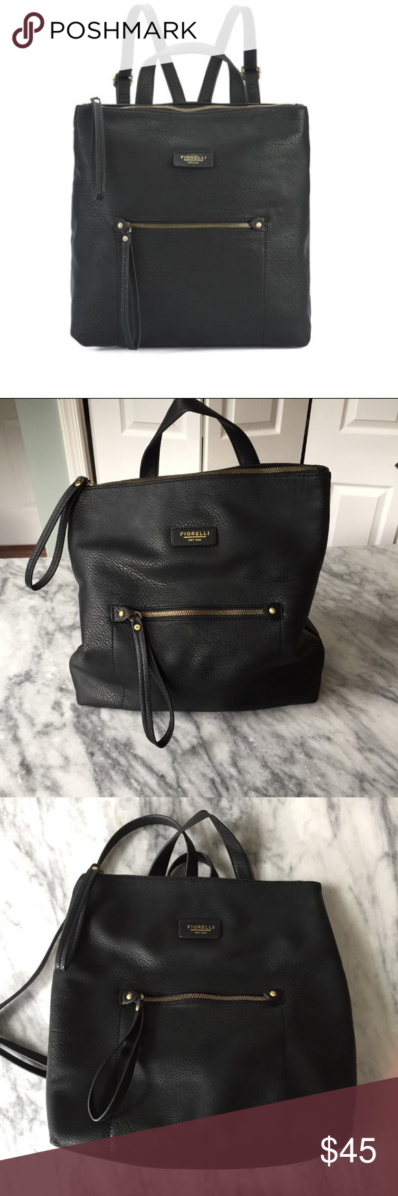 Fiorelli Lexi Backpack Black Best part about this backpack is the security  feature of having a