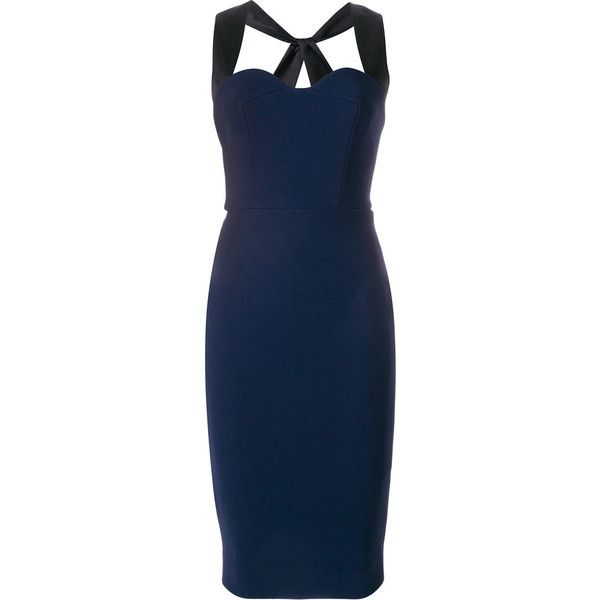 Victoria Beckham cross-back fitted dress From China Cheap Online 7yCTmxR