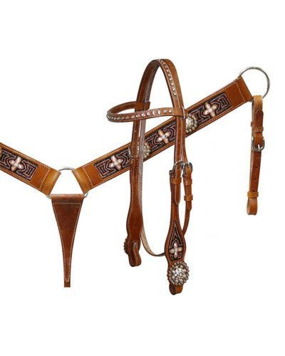 Showman Headstall and Breast Collar Set - #5091