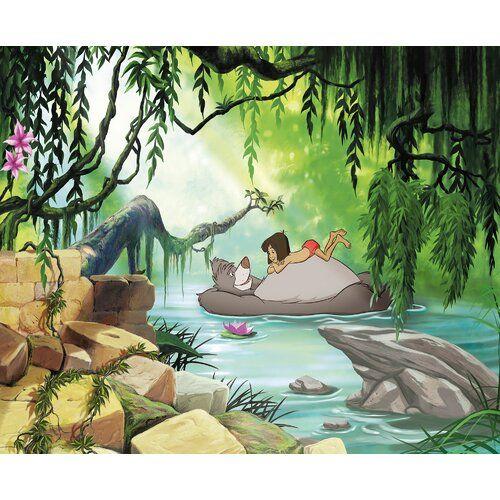 Jungle Book Swimming With Baloo Wall Mural Komar