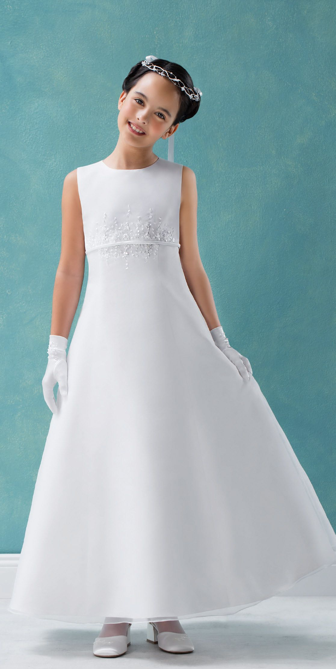 Elegant classical Emmerling dress - the beading is very soft and ...