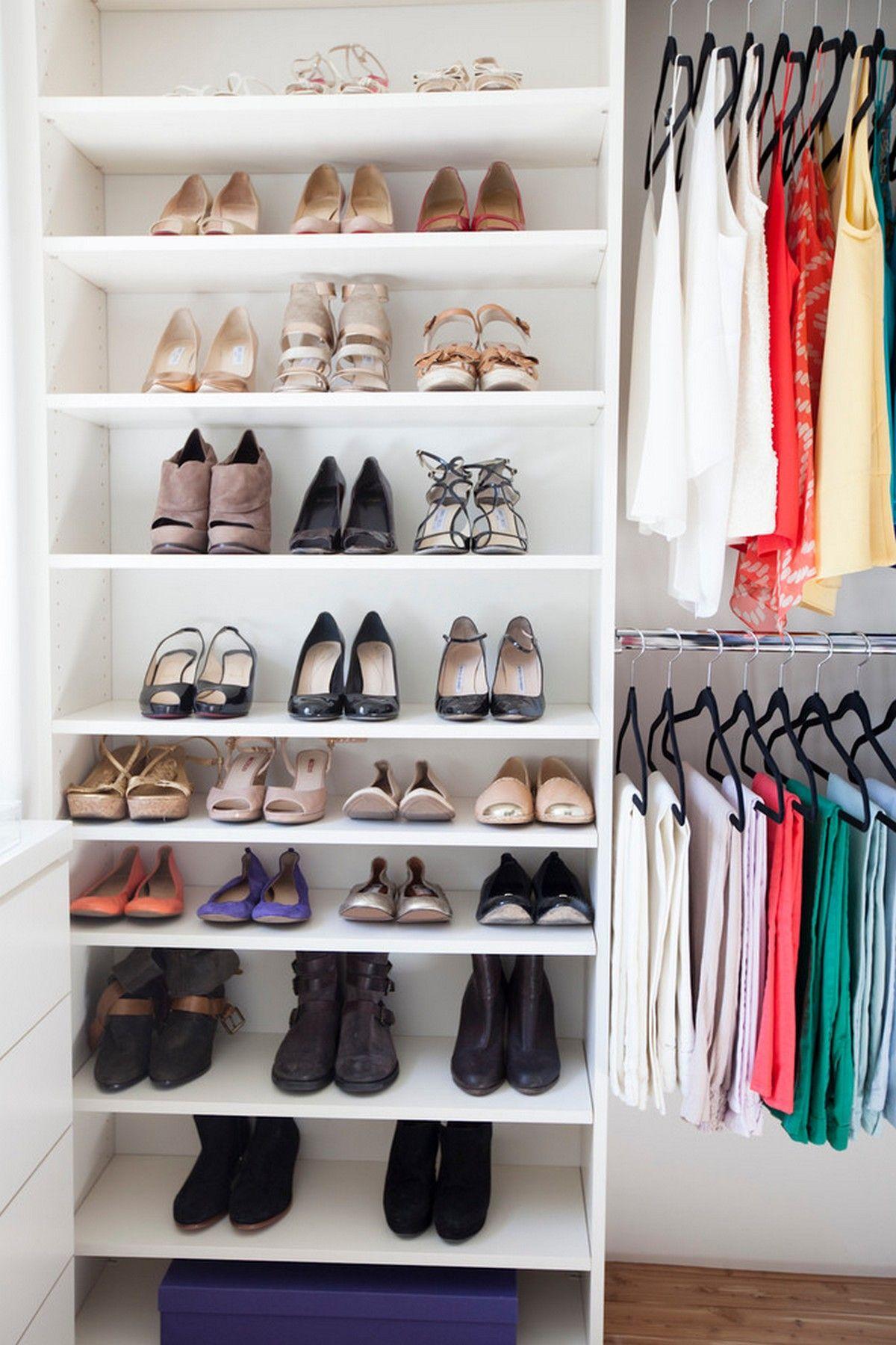 Ikea Billy Bookcase As Shoe Cabinet Small Closet Hacks Closet
