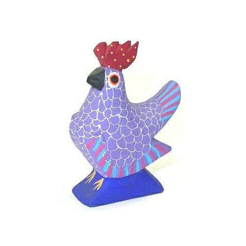 Chicken 3 Inch Oaxacan Wood Carving Home