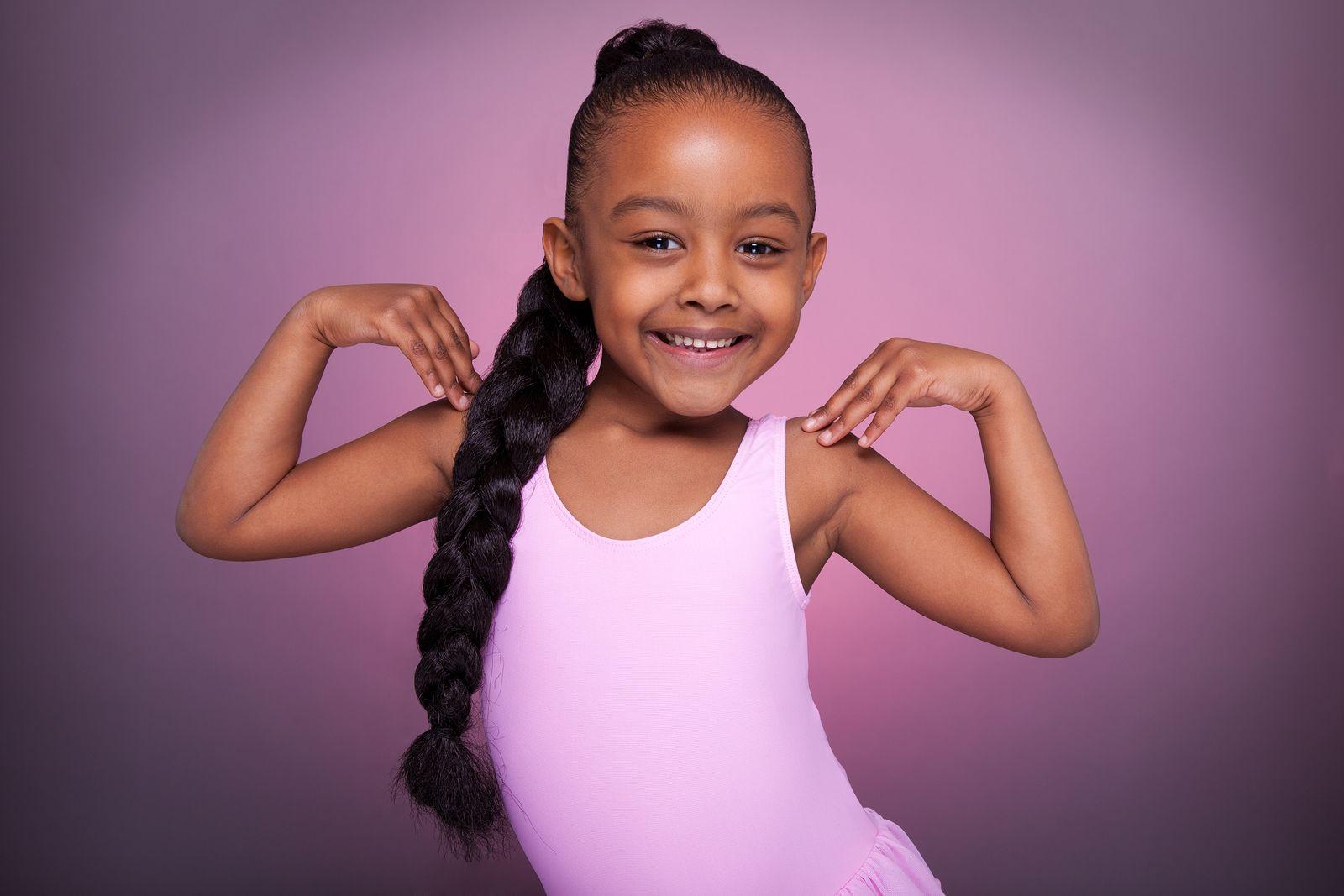 Kids Jazz Dance w/Miss Yolanda African american girl