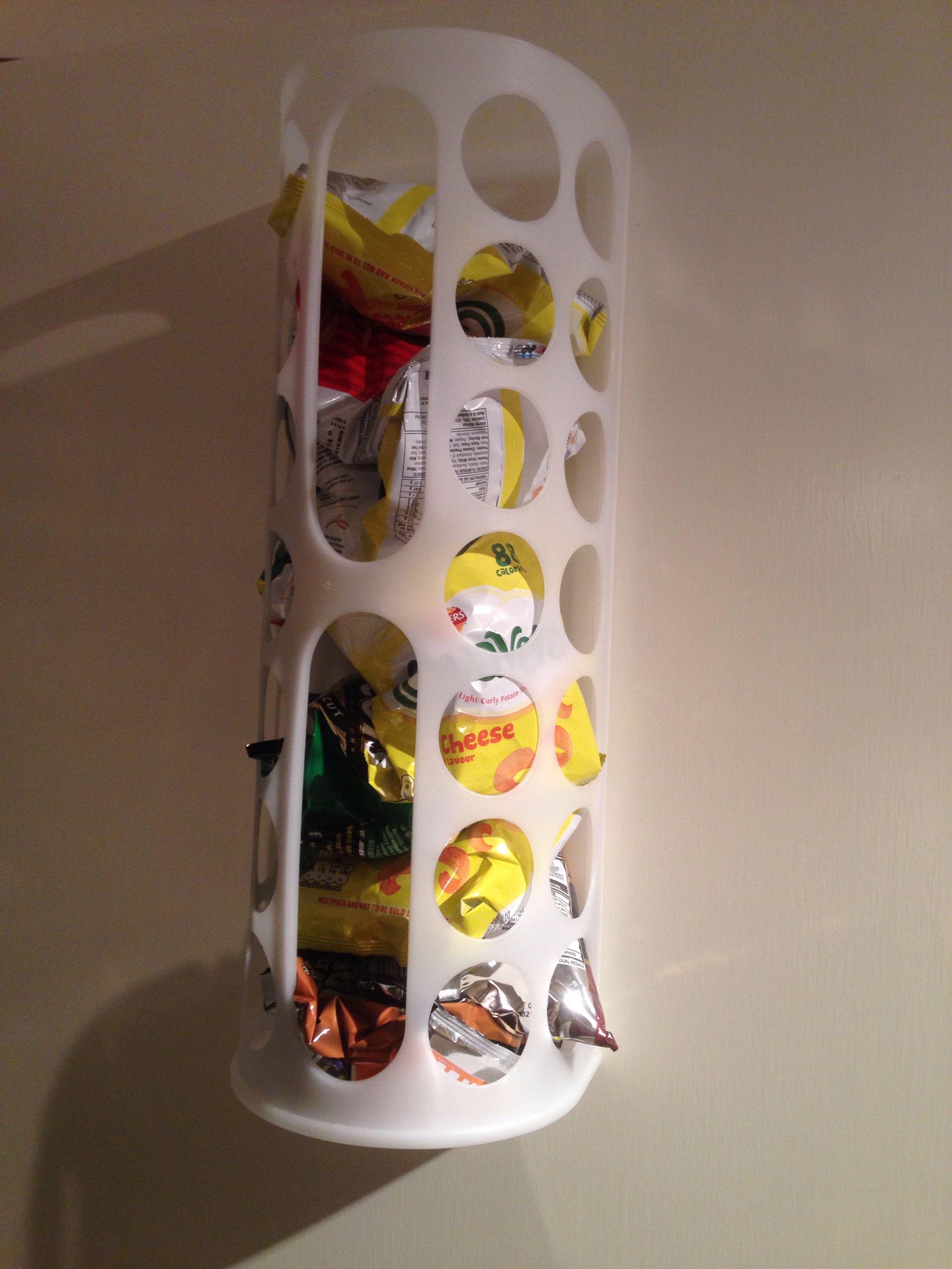 Ikea Variera Carrier Bag Holder As Crisps Chips Storage On The