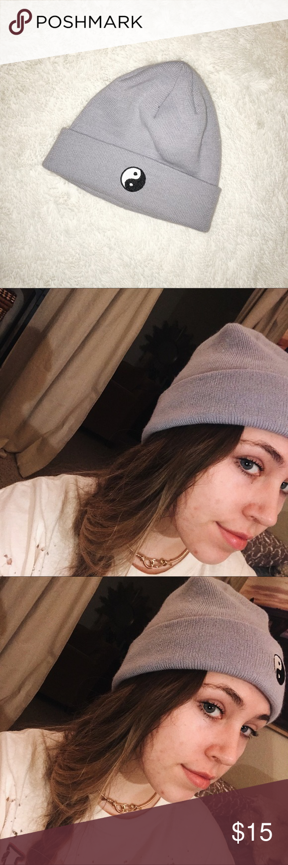 Lavender Periwinkle Ying Yang Beanie Periwinkle Color Urban Outfitters Accessories Purple Periwinkle