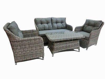 Halb Rund Rattan Gartenmöbel Polyrattan Sitzgruppe Gartengarnitur - gartenmobel lounge rund