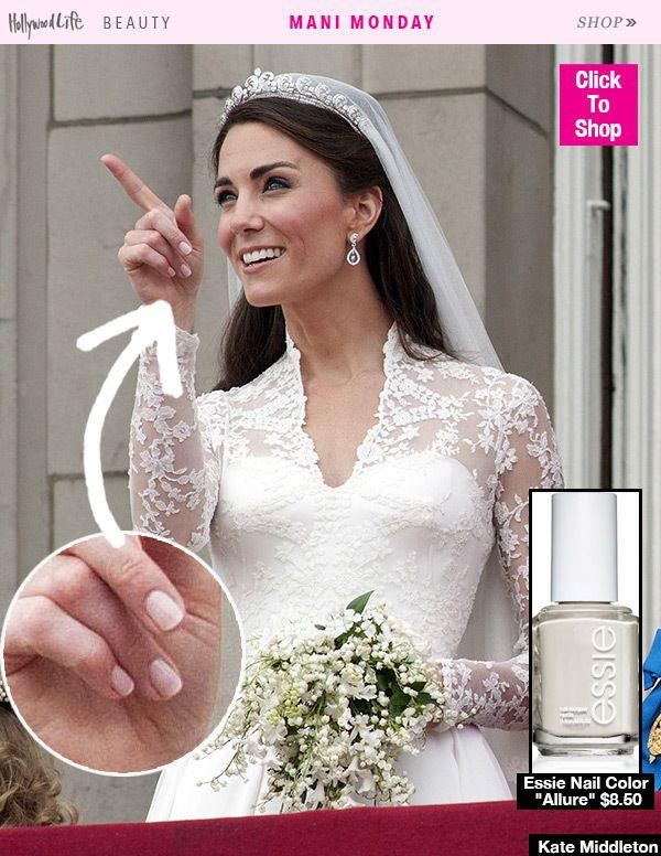 Mani Monday Kate Middleton S Exact Bridal Manicure Her Polish