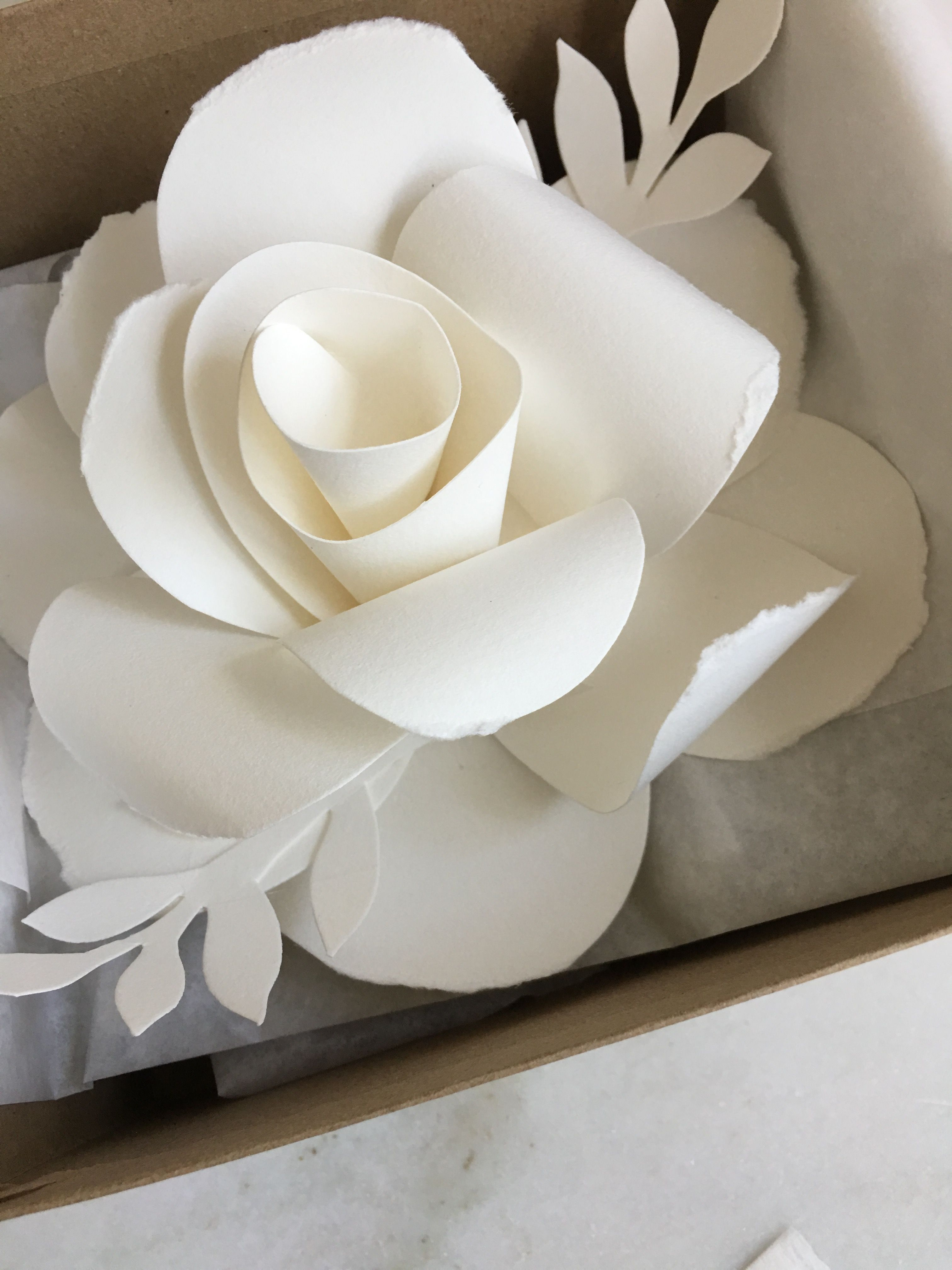 Rose Paper Sculpture Paper Flowers Artist French Paper Design