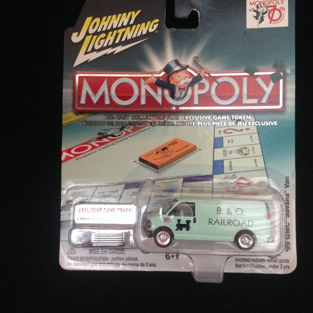 Johnny Lightning MONOPOLY '99 GMC Savana Van B O Railroad 70th Bonus Game Token #JohnnyLightning