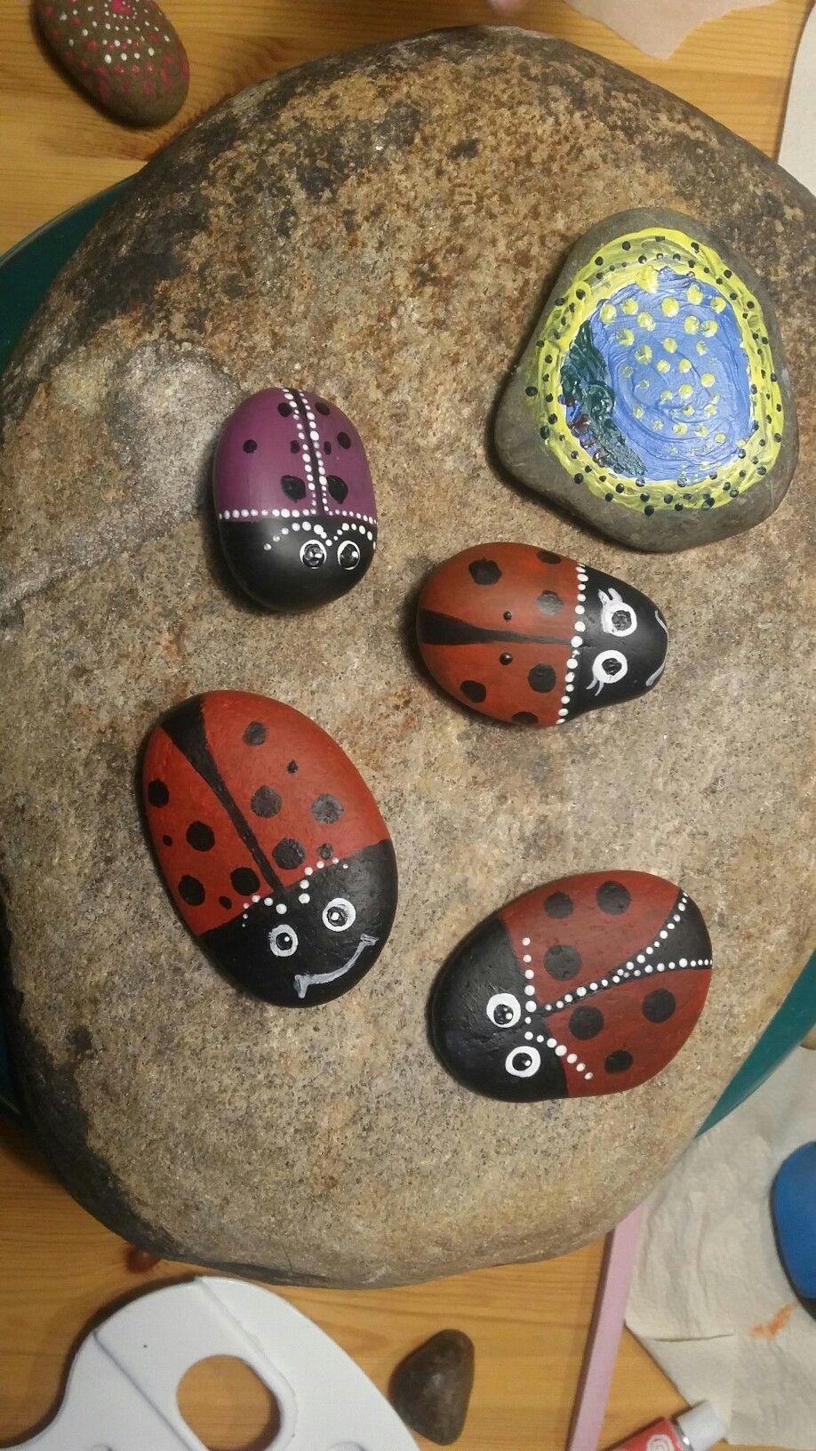Maalattuja kiviä, leppikset