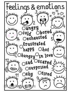 Feelings and emotions matching worksheet Free ESL printable