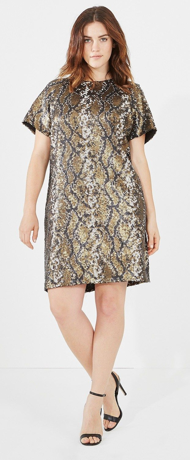 27 Plus Size Sequin Dresses {with Sleeves | Pinterest