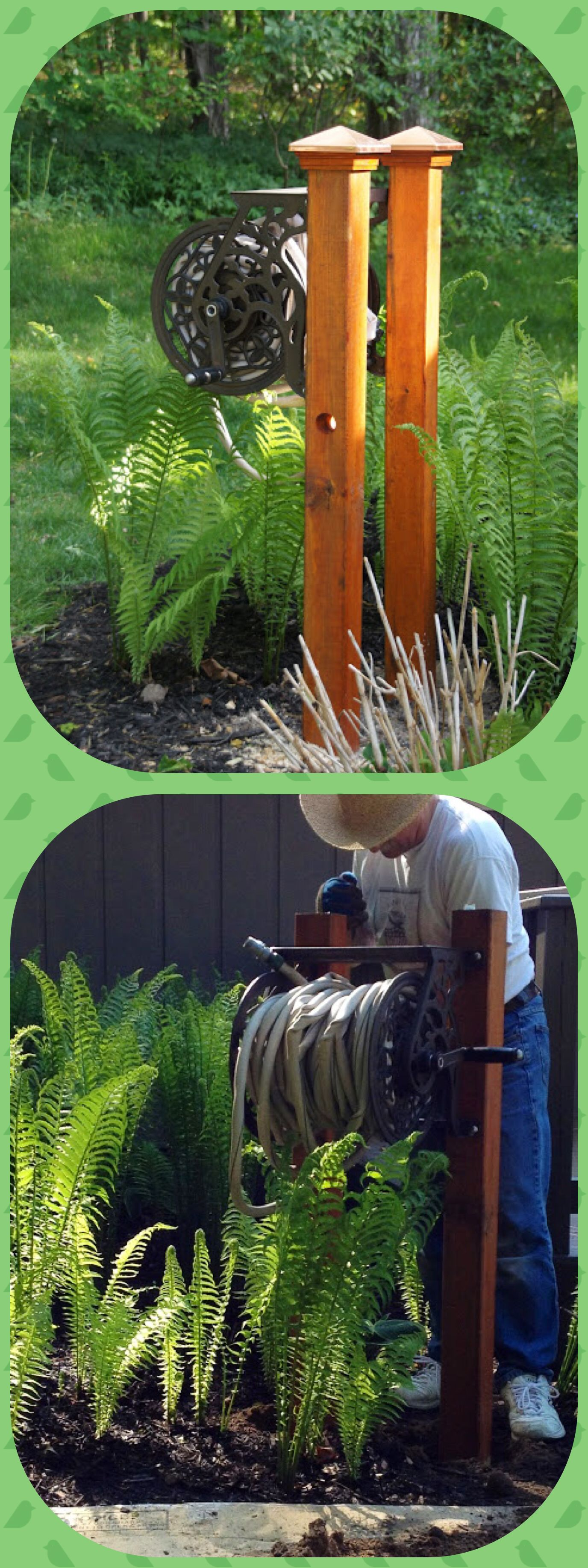 Post mounted hose reel | In the Garden | Pinterest | Hose reel ...
