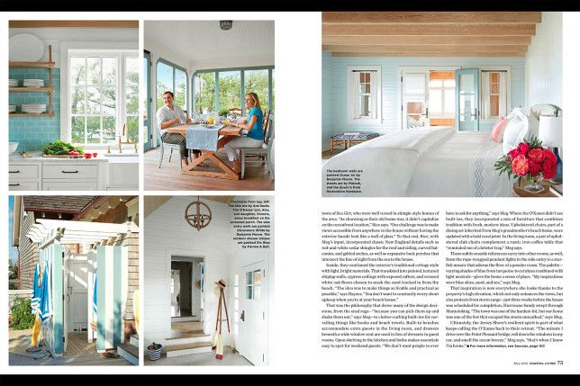 Coastal Living Magazine Article This Features Interior Design Tory Haynes  Interiors Llc Also Whoop The Cottage