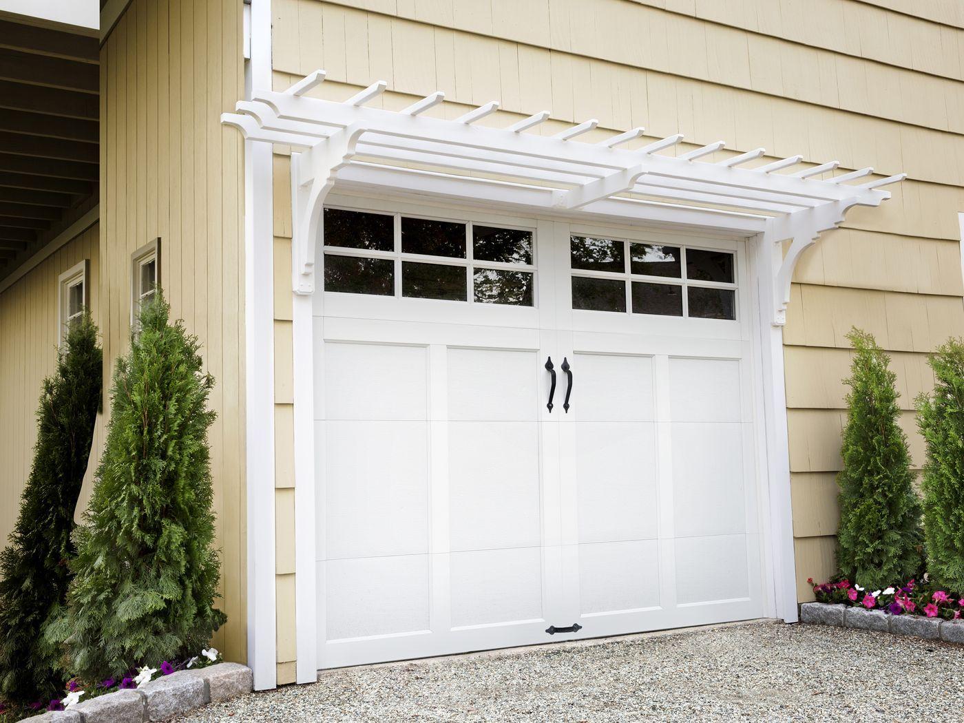 How to Build a Garage Pergola | Garage door design, Garage ...