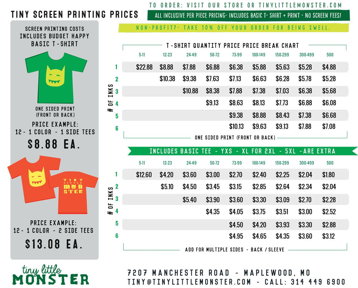 t shirt screen printing costs