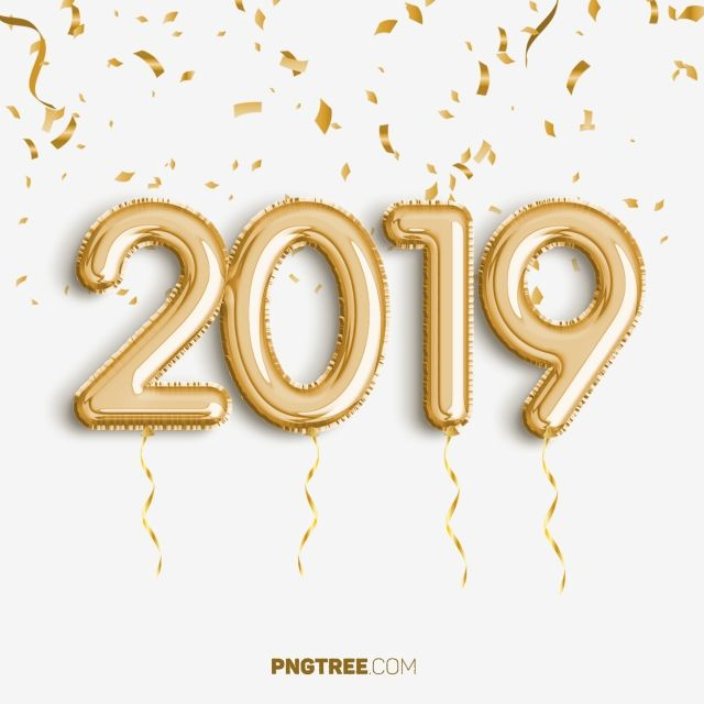 2019 Golden Balloon New Year Celebrate, Newyear, Happy Newyear, 2019 PNG Transparent Clipart Image and PSD File for Free Download #happynewyear