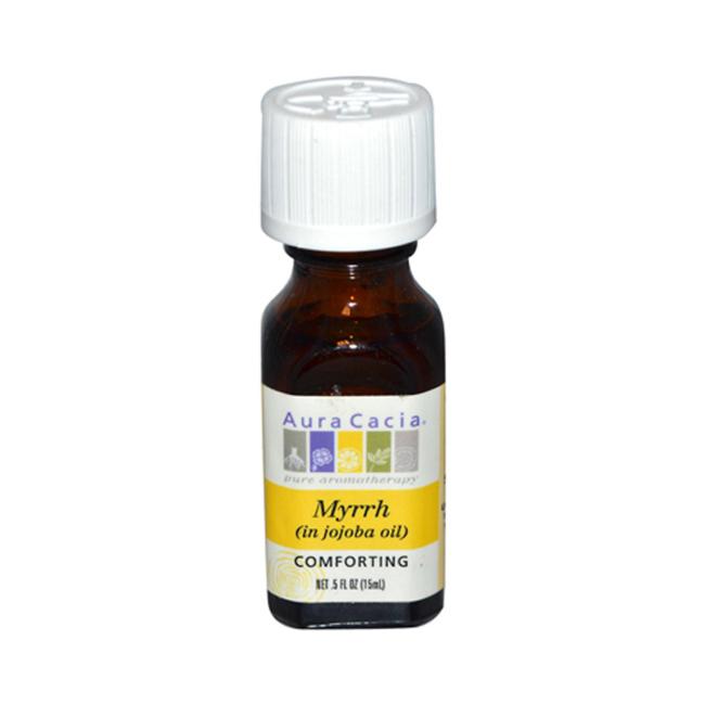 Aura Cacia Myrrh (in jojoba oil) | 0.5 fl oz Liquid | Essential Oils #jojobaoil