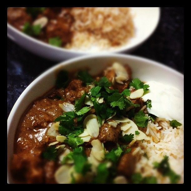 "@myfoodbook's photo: ""Curry night #lamb shoulder rogan josh"""